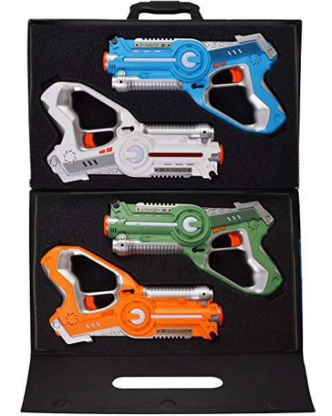 Dynasty toys laser tag set Toys and carrying case for kids, multiplayer  4 pack