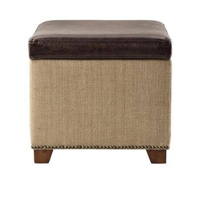 Home Decorators Collection Ethan Storage Ottoman - Home Depot - $15 +Free Shipping