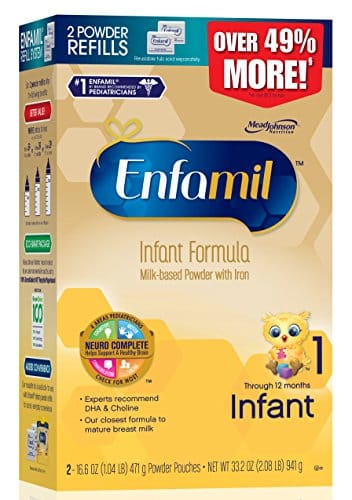 Enfamil Premium Infant Formula Powder Refill Box - 33.2 oz. x 2 for a total of 66.4 oz for $72.18 + $15GC @ Target with redcard