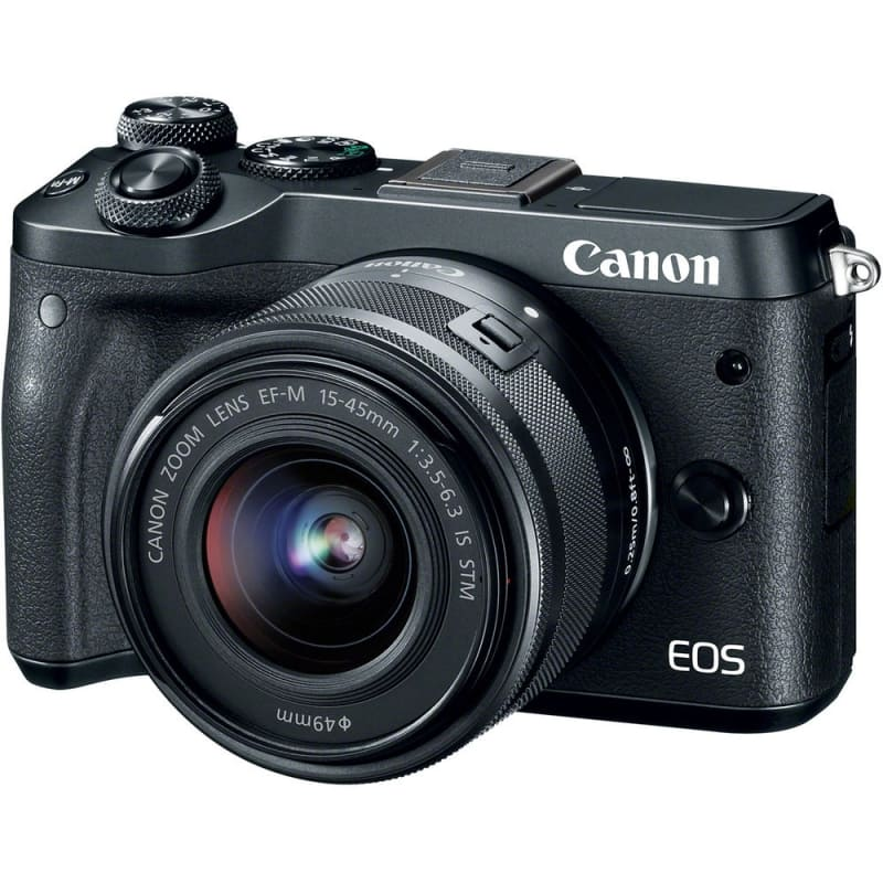 Canon EOS M6 Mirrorless Digital Camera with EF-M 15-45mm camera Kit - Black (New) $569USD + Free Shipping