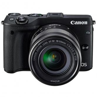 Canon EOS M3 Kit with EF-M 18-55mm IS STM Lens Digital SLR Camera - Black $299 + FS