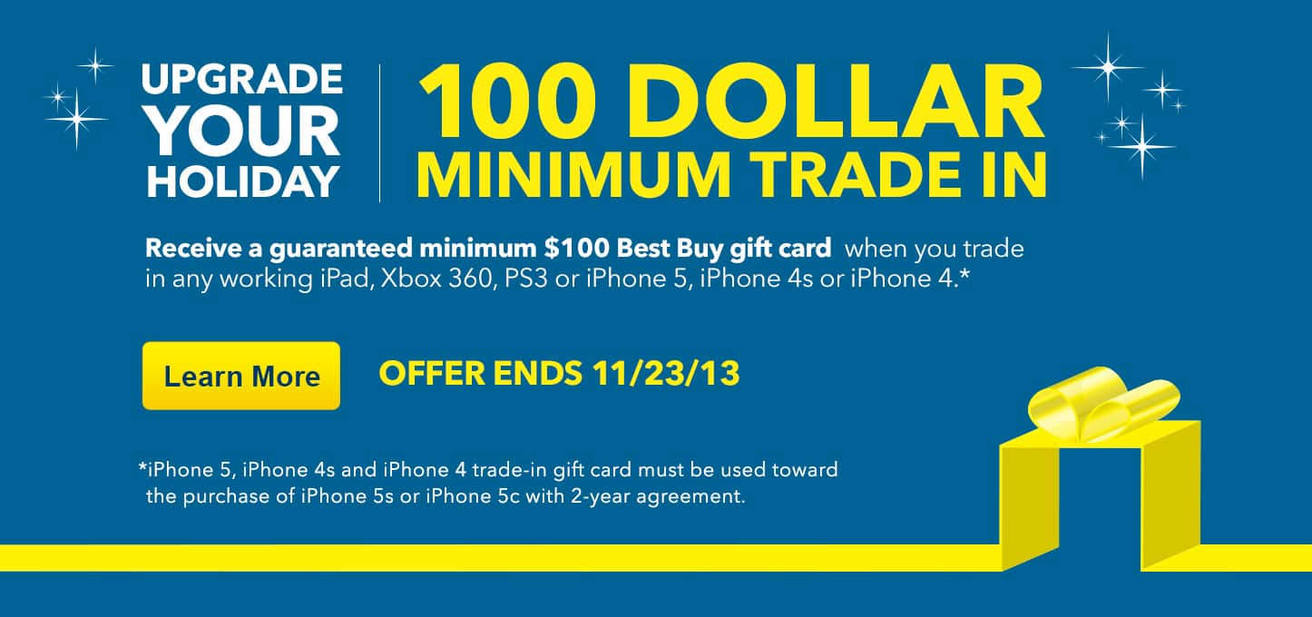 (Dead) Trade in any working Xbox 360 or PS3 at Best Buy for $100 Minimum Gift Card