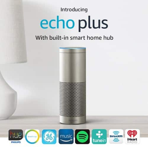 Amazon Echo Plus with built-in Hub + Philips Hue Bulb included $119.99