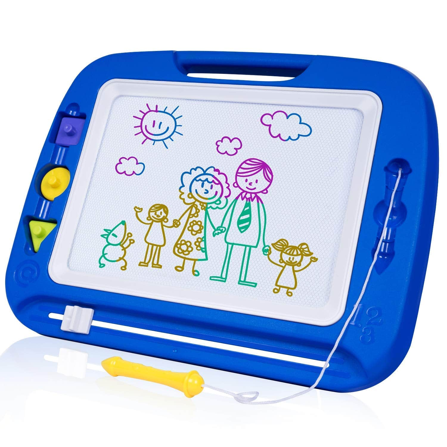 12.8X16.3 Magnetic Drawing Board Toy for Kids, Large Doodle Board Writing Painting Sketch Pad-$12.93 with free shipping with Prime