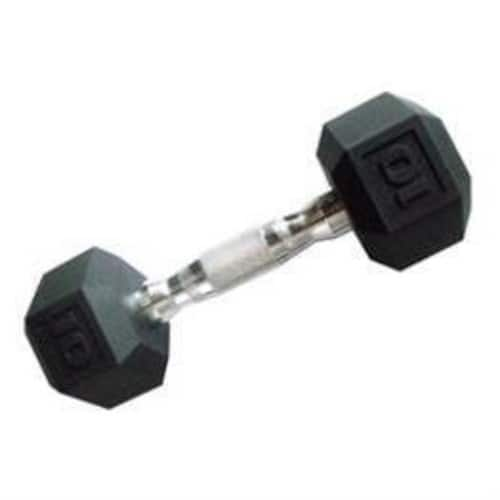 CAP Barbell Color Coated Hex Dumbbell [Black, 10 pound, Single] $9.49 at Amazon