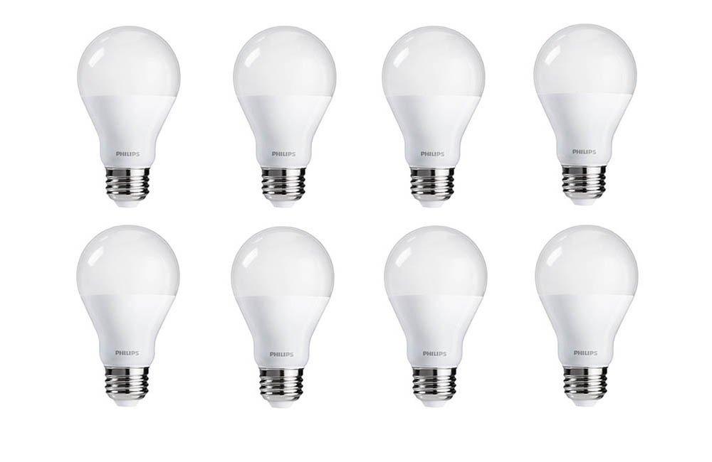 Philips LED Bulb 60 Watt Equivalent, Soft White (2700K) , 8 Pack, Dimmable  $14.76