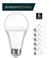 6 Pack 100 watt equivalent A19 E26 LED Light Bulbs, Daylight (5000K) $15.99