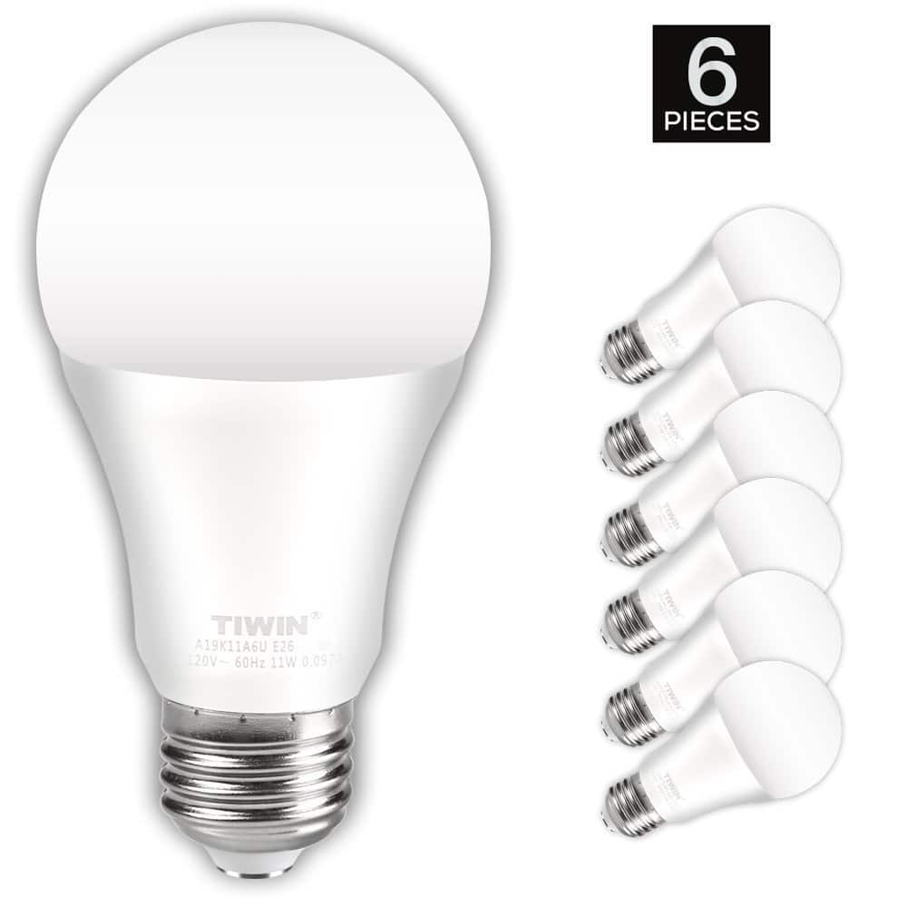 6 Pack 100 Watt Equivalent A19 E26 Led Light Bulbs Daylight 5000k 15 99