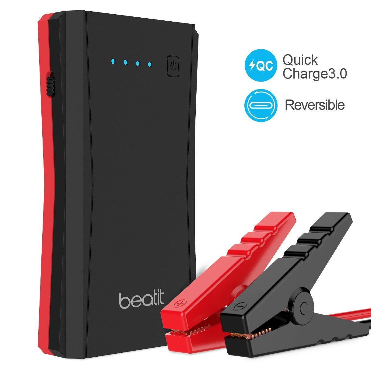 $34 BEATIT TECH 500A Peak 10800mAh Portable Jump Starter Power Pack Phone Power Bank With USB Type-C & QC 3.0