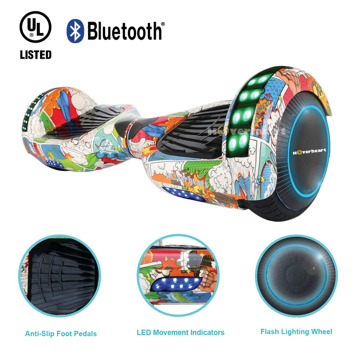 Superhero Hoverboard with Bluetooth - (originally $399)