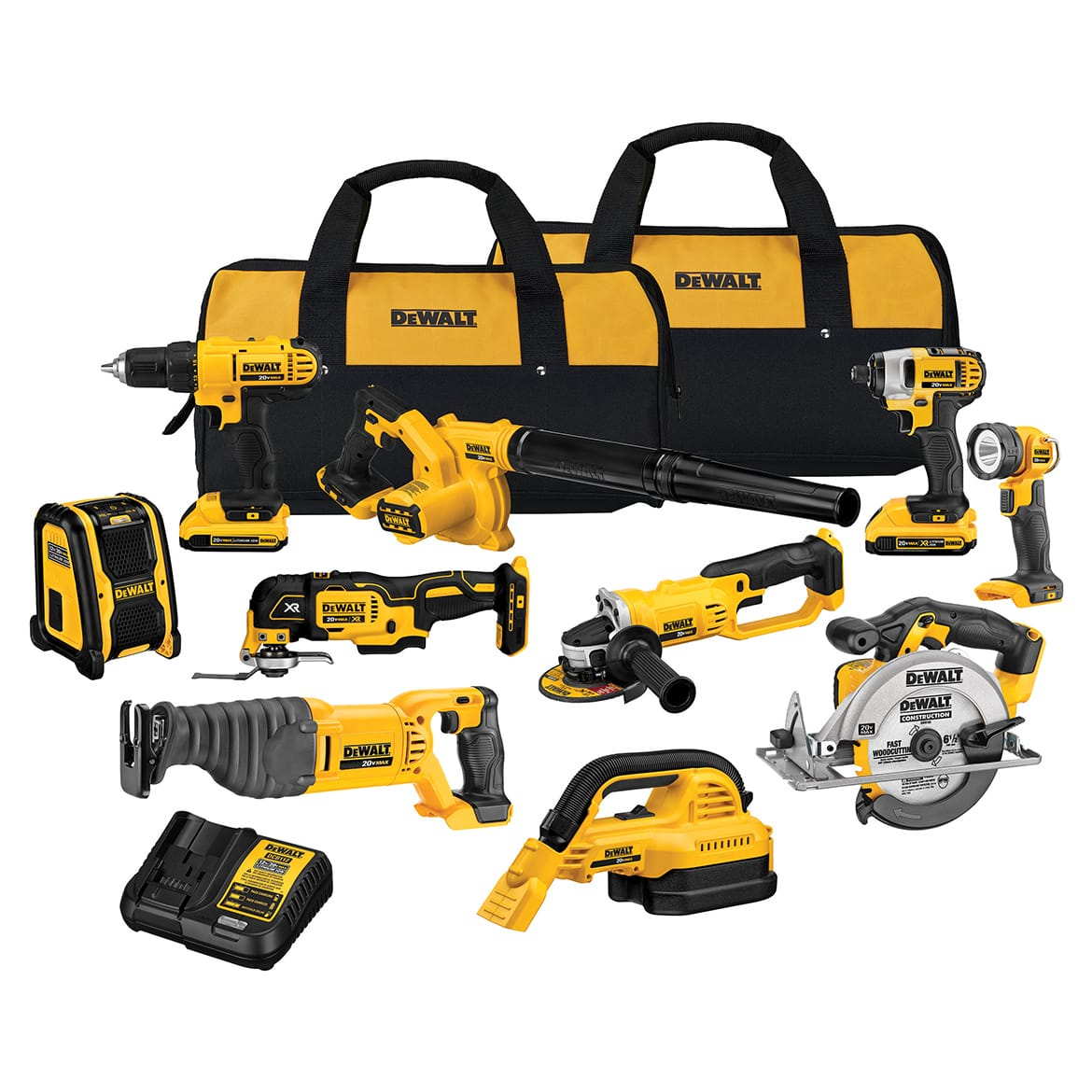 Dewalt 10 Piece tool kit 20v Lithium Ion -- Limited Quantity $499.99