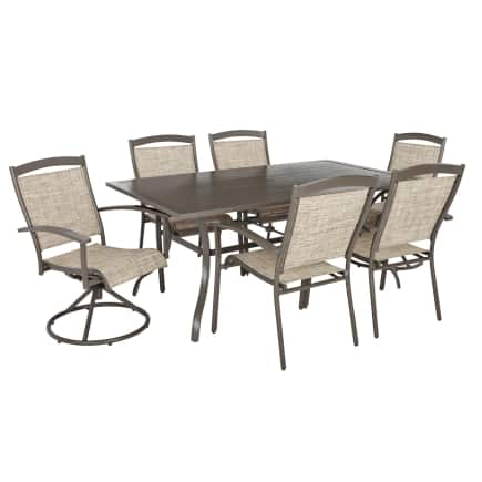 ACE Hardware: Living Accents Colma Patio Dining Set 7 pc. Taupe (50% Off original $599) Free Ship to Store $299