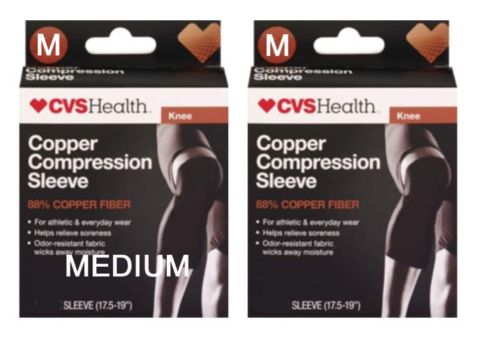 CVS Health Knee Copper Compression Sleeves - Get Two For $8.49 shipped