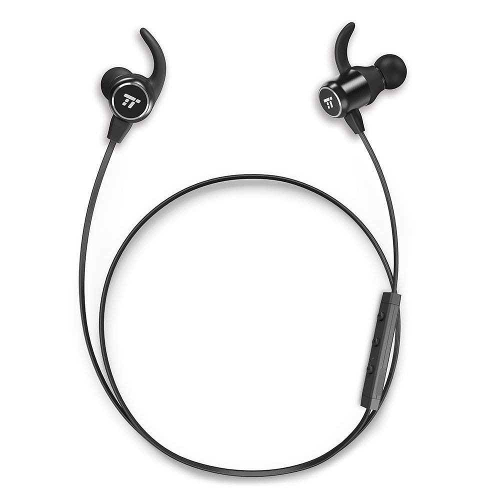 TaoTronics Bluetooth Headphones with Bluetooth 4.2 IPX5 Waterproof & Sweatproof Earphones with Magnetic Earbuds Snug Fit for Sports with MEMES Mic and 6 Hours P $9.99