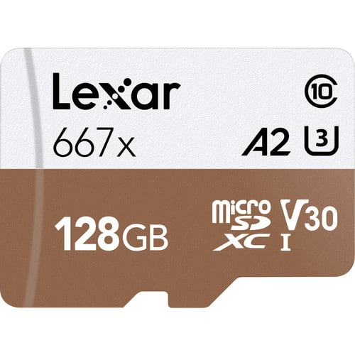 Lexar 128 GB Professional microSDXC Memory Card with SD Adapter $17.99, 256 GB $34.99 (free shipping)