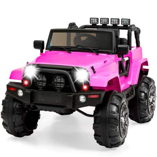 Best Choice Products 12V Ride On Car Truck Remote Control 3 Speed LED Light Pink $249.99