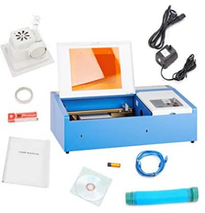 12x8inch 40W CO2 Laser Engraving Machine Engraver Cutter with Exhaust Fan USB Port $333.05