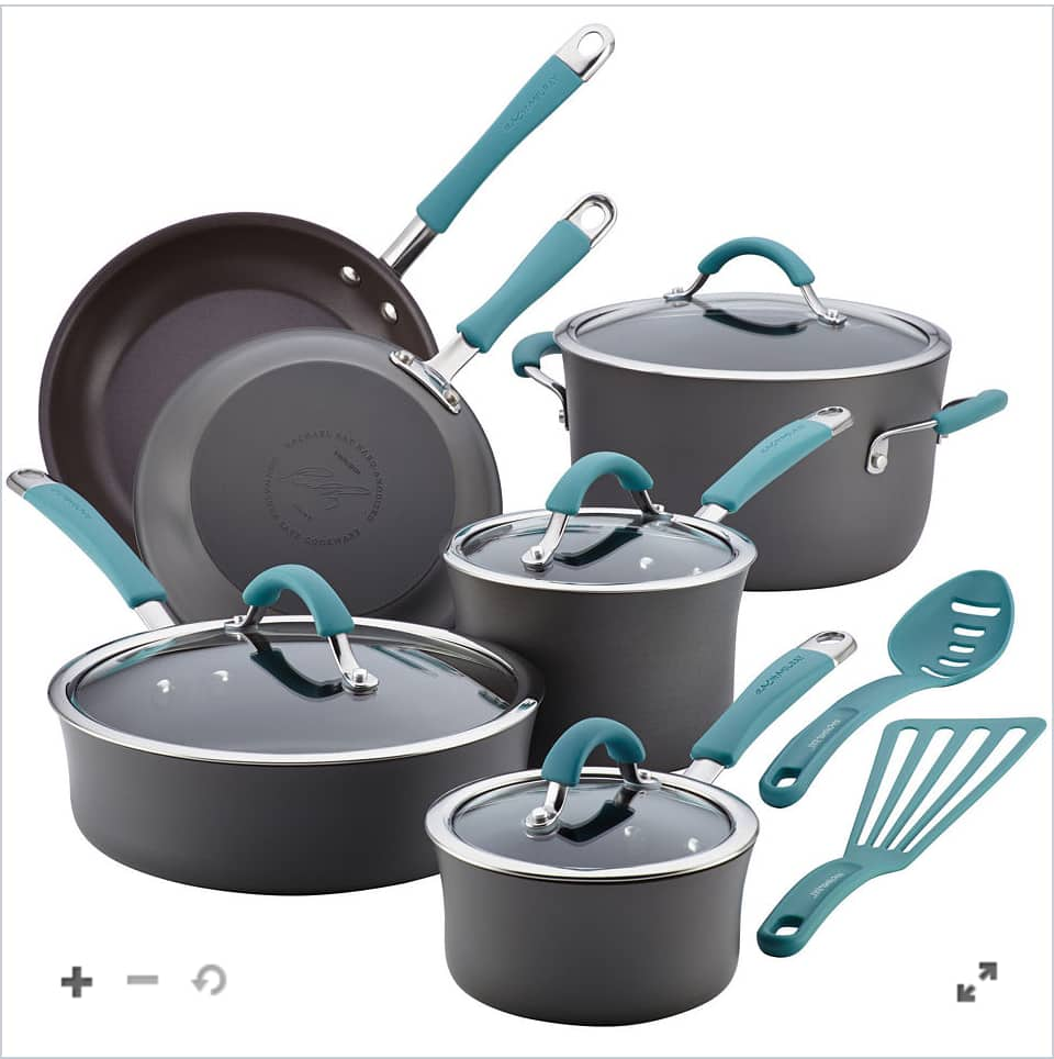Rachael Ray® Cucina 12-pc. Hard-Anodized Cookware Set $87.49