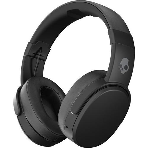 Skullcandy - Crusher Wireless Over-the-Ear Headphones - Black/Coral $128.99