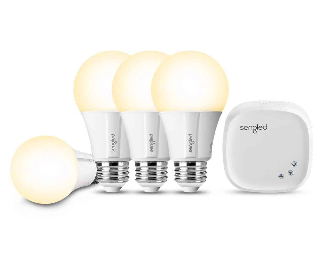 Sengled Element Classic A19 Starter Kit (4 Bulbs + Hub) - 60W Soft White Smart LED Bulbs (2700K) $41.24 @ Amazon