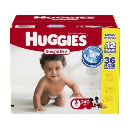 Huggies Snug & Dry Diapers Original Size :3  - 240 ct. (16-28 lbs.) $28.98