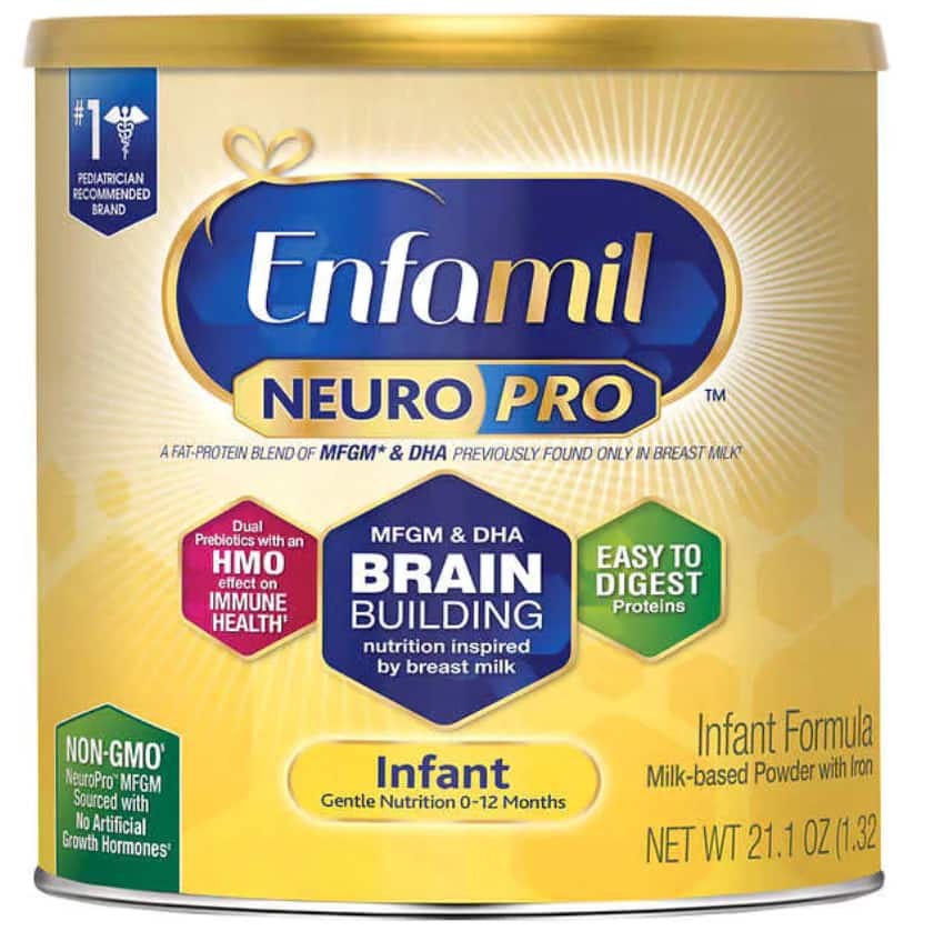 Costco: (Membership Required) 6-Pack Enfamil NeuroPro Infant Formula 21.1 oz for $149.99. Free Shipping.