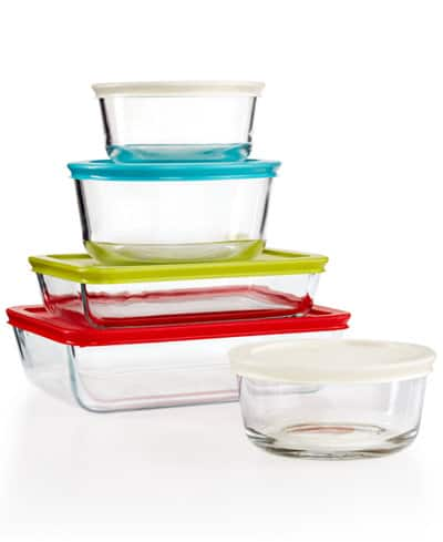 Pyrex 10-Piece Simply Store Set w/ Colored Lids  $11.25 + Free Store Pickup