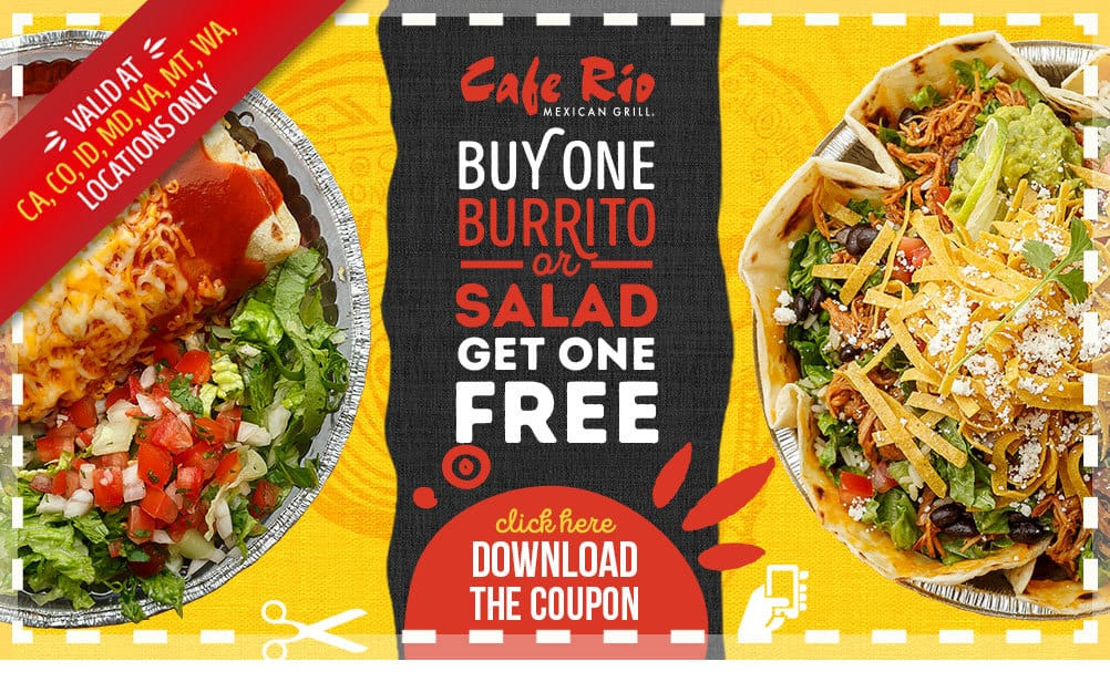 Cafe rio coupons discounts