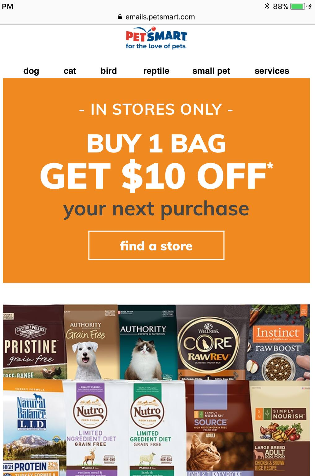 Petsmart Buy One Bag Of Dog Or Cat Food Get 10 Off Your