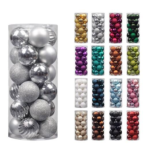 Save 30% Off Shatterproof Christmas Decorations Tree Balls w/ Hooks $5.59