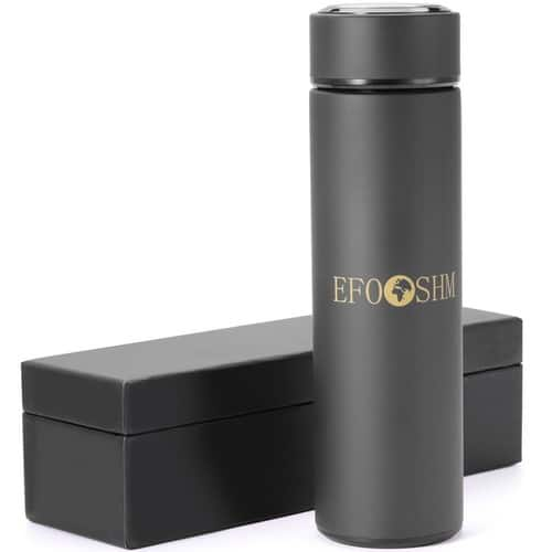 16oz EFOSHM Insulated Classic Flask with Removable Tea Strainer $10.19