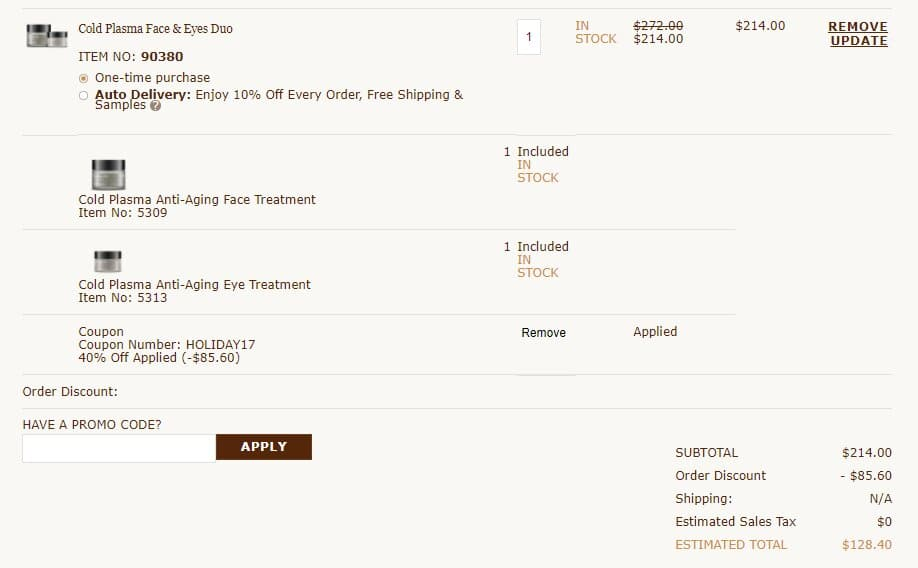 Perricone MD Cold Plasma Face & Eyes Duo+ Free S/H $128.37