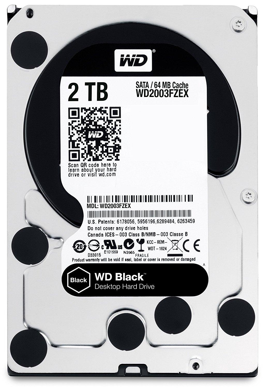 """WD Black 2 TB Internal hard drive Serial ATA-600 3.5"""" 7200 rpm WD2003FZEX $89"""