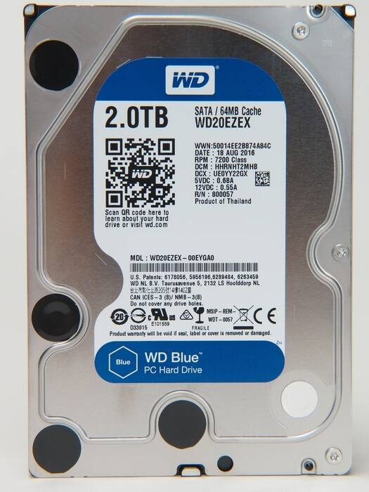 Western Digital Blue 2TB HDD (3.5) 7200 RPM WD20EZEX SATA 6GB/s $59.95 + free shipping