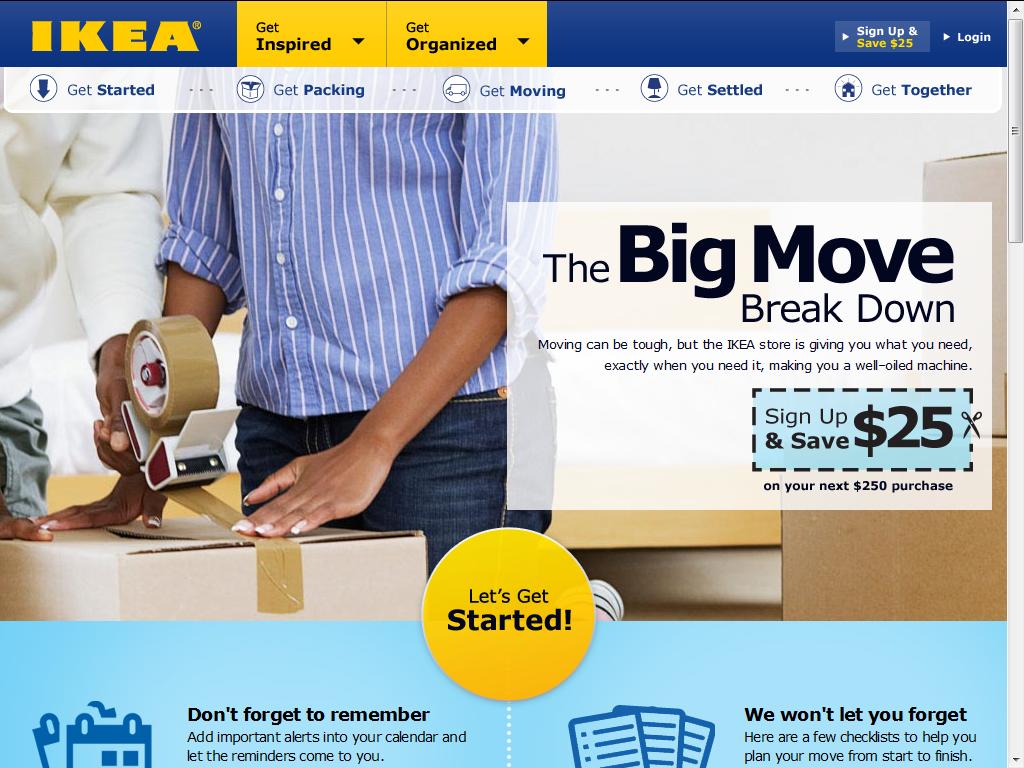 IKEA $25 off $250
