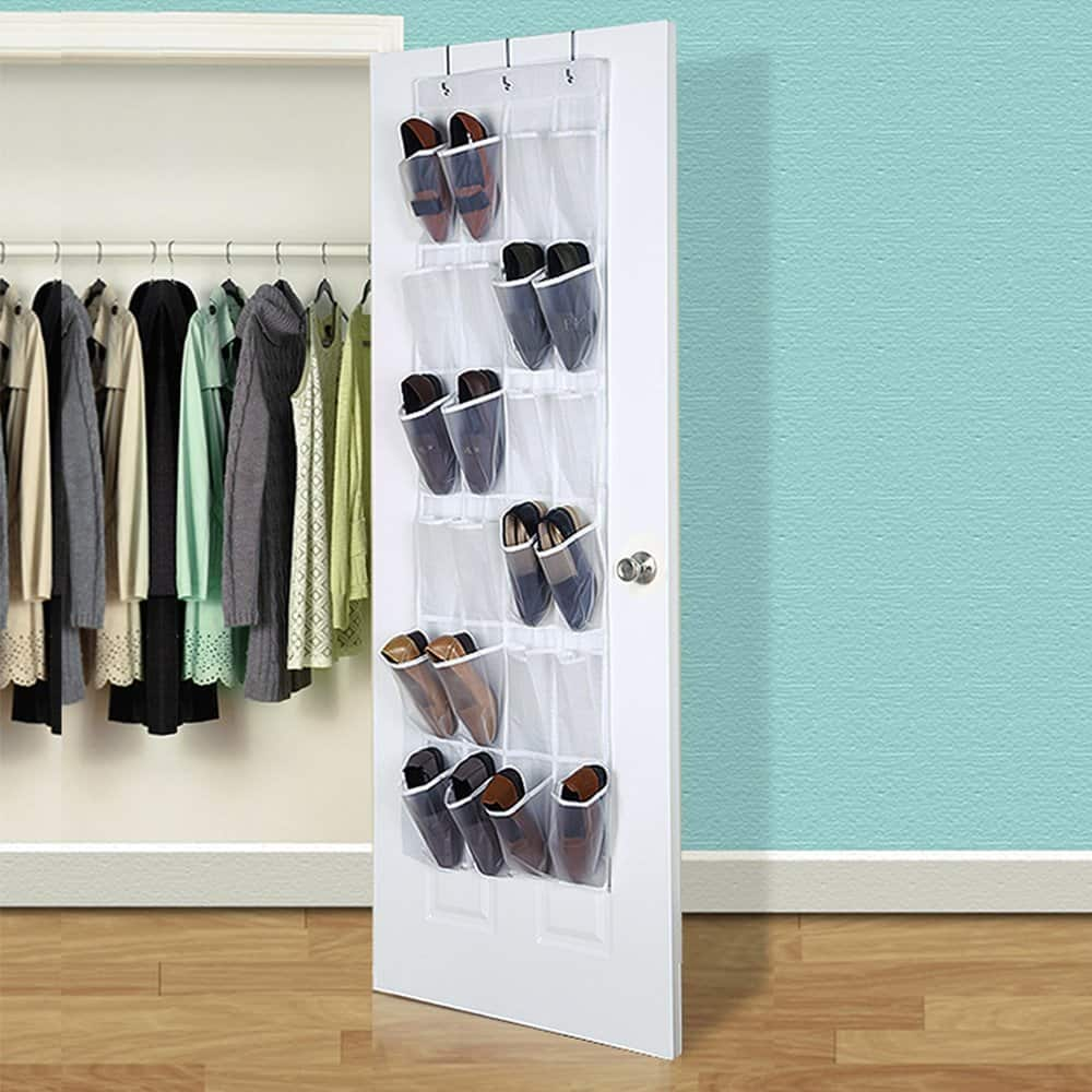 24 Pocket Over the Door Shoe Organizer (Clear) for $5.59 w/code + free prime shipping