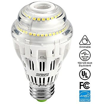 SANSI 150W Equilvalent Dimmable LED Bulb (1pk) for $10 w/ code + free prime shipping