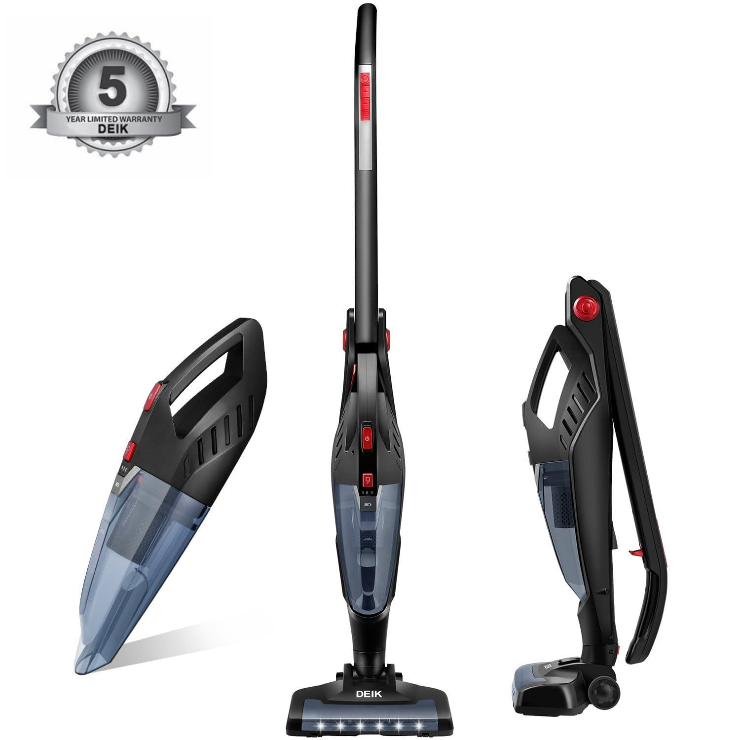 Deik 2 in 1 Cordless Vacuum Cleaner for $68.53 with code + free shipping