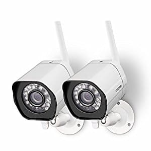 Zmodo 720p HD Outdoor Home Wifi Security Surveillance Video Cameras System (2 Pack) for $52.46 w/ code + free prime shipping