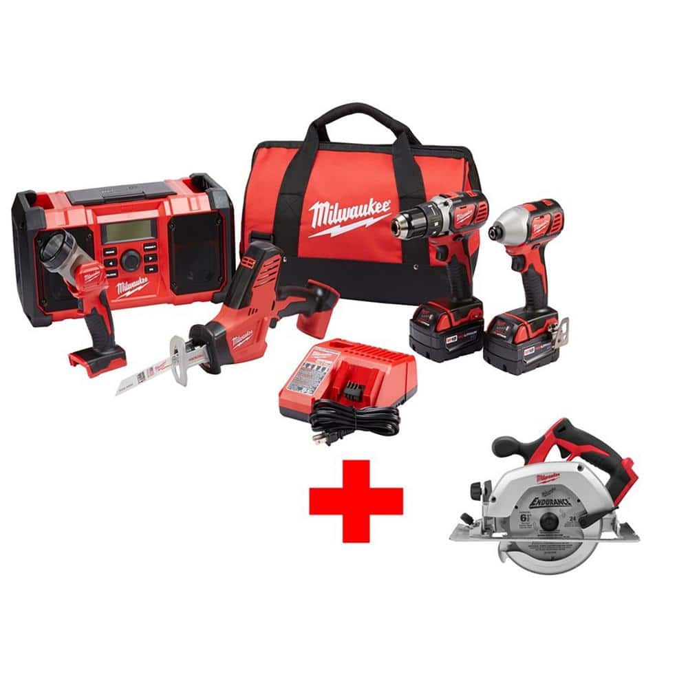 Home Depot Milwaukee M18 Combo Kits With Free Tool At $399 - Up To 39% Saving