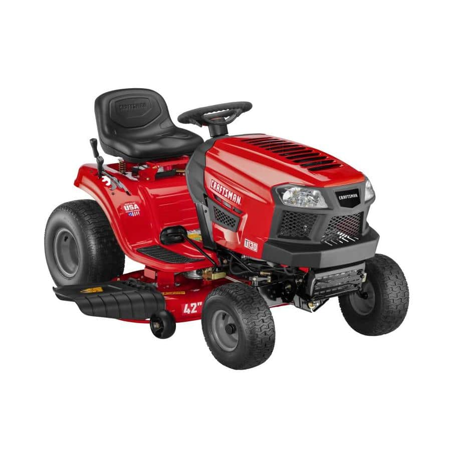 Craftsman T130 18.5hp 42in riding lawn mower/tractor - $899