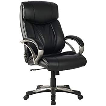 VIVA High Back Ergonomic (Bonded) Leather Chair with Adjustable Lumbar Support $58.81