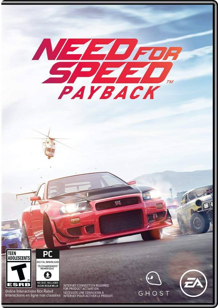 Need for Speed Payback [Online Game Code] [Online Game Code, Standard, PC Online Game Code] $9.99