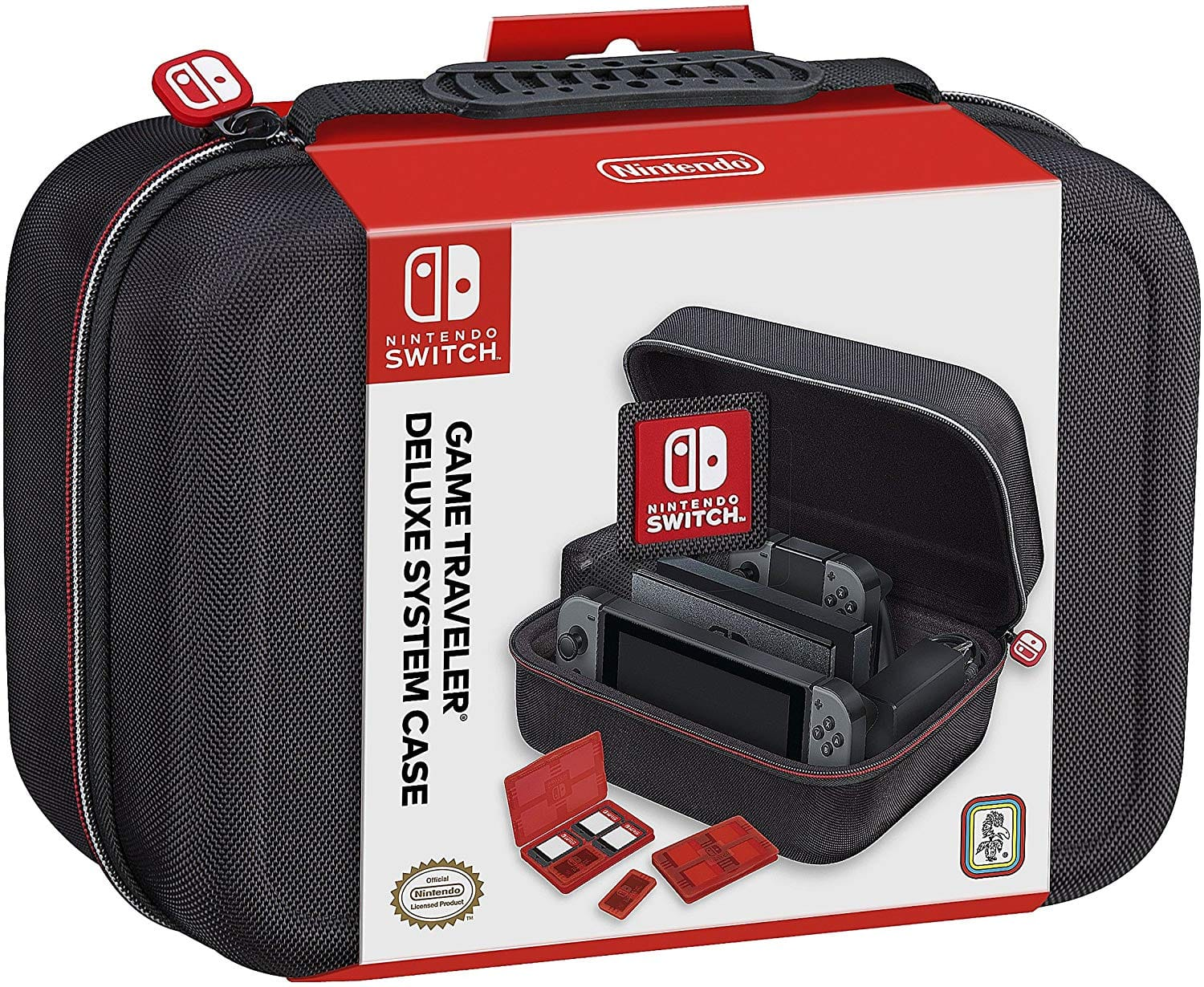 Nintendo Switch System Carrying Case – Protective Deluxe Travel System Case – Black Ballistic Nylon Exterior – Official Nintendo Licensed Product $29