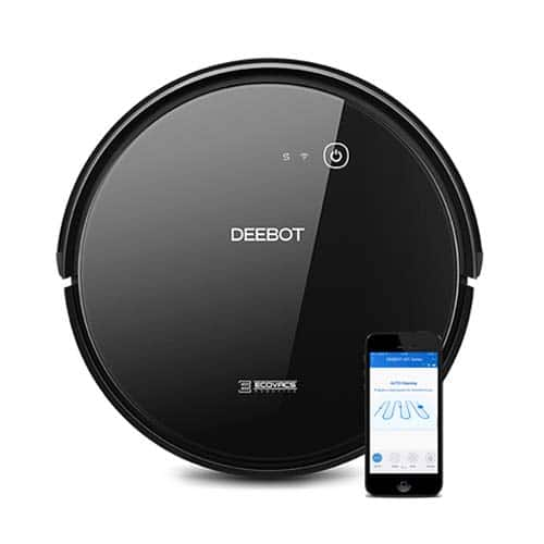 ECOVACS DEEBOT 601 Robotic Vacuum Cleaner with App Control, for Carpet & Optimized for Hard Floor, Max Mode, Quiet, Scheduling, Auto-Charging, Pet Friendly, $190