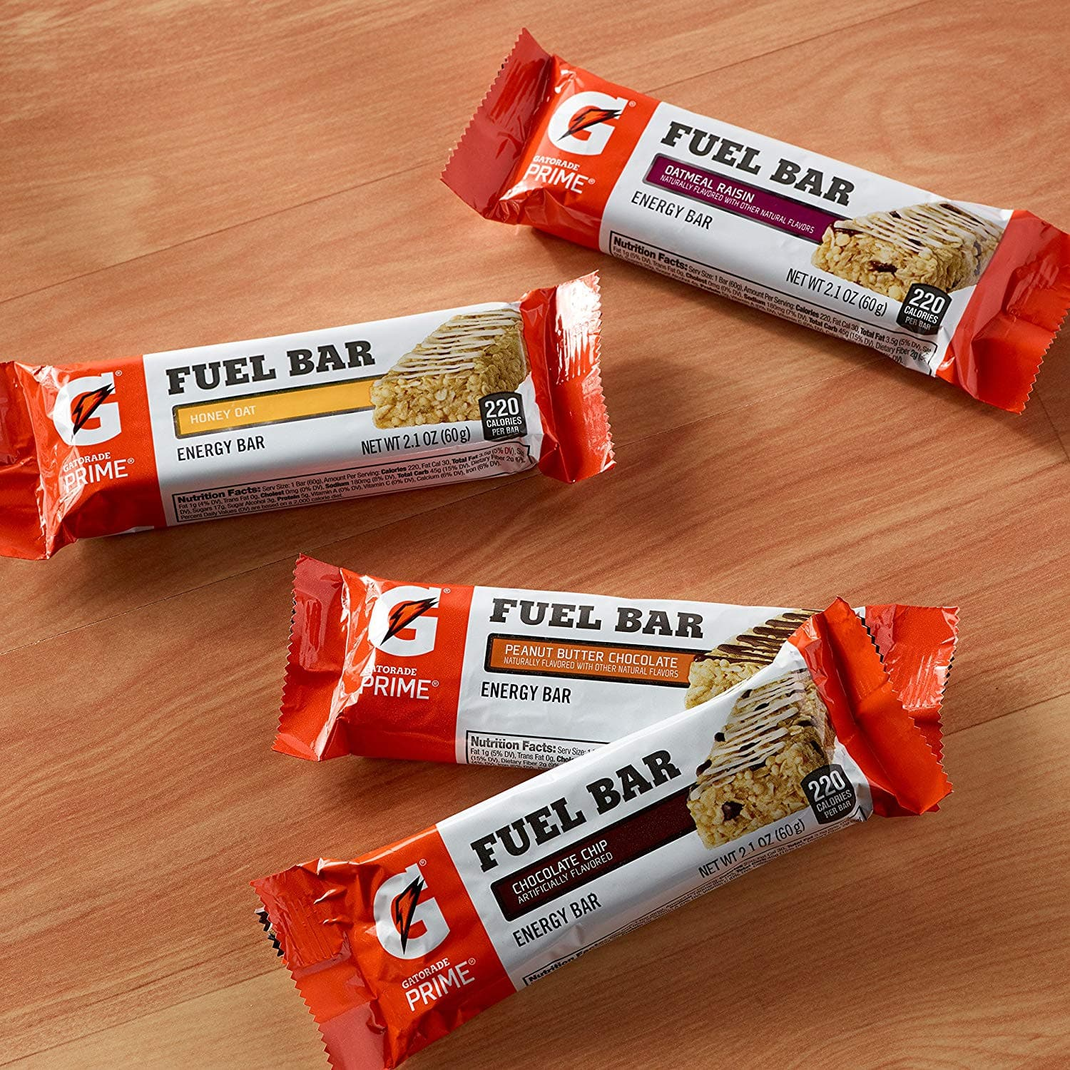 Gatorade Prime Fuel Bar, Chocolate Chip, 45g of carbs, 5g of protein per bar (12 Count), 2.1 oz $9.5