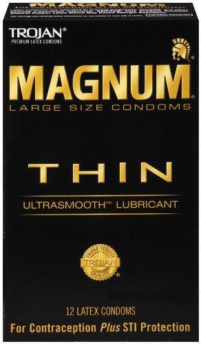 Trojan Magnum THIN Condoms 12ct - $3.85 shipped w/ Amazon S&S