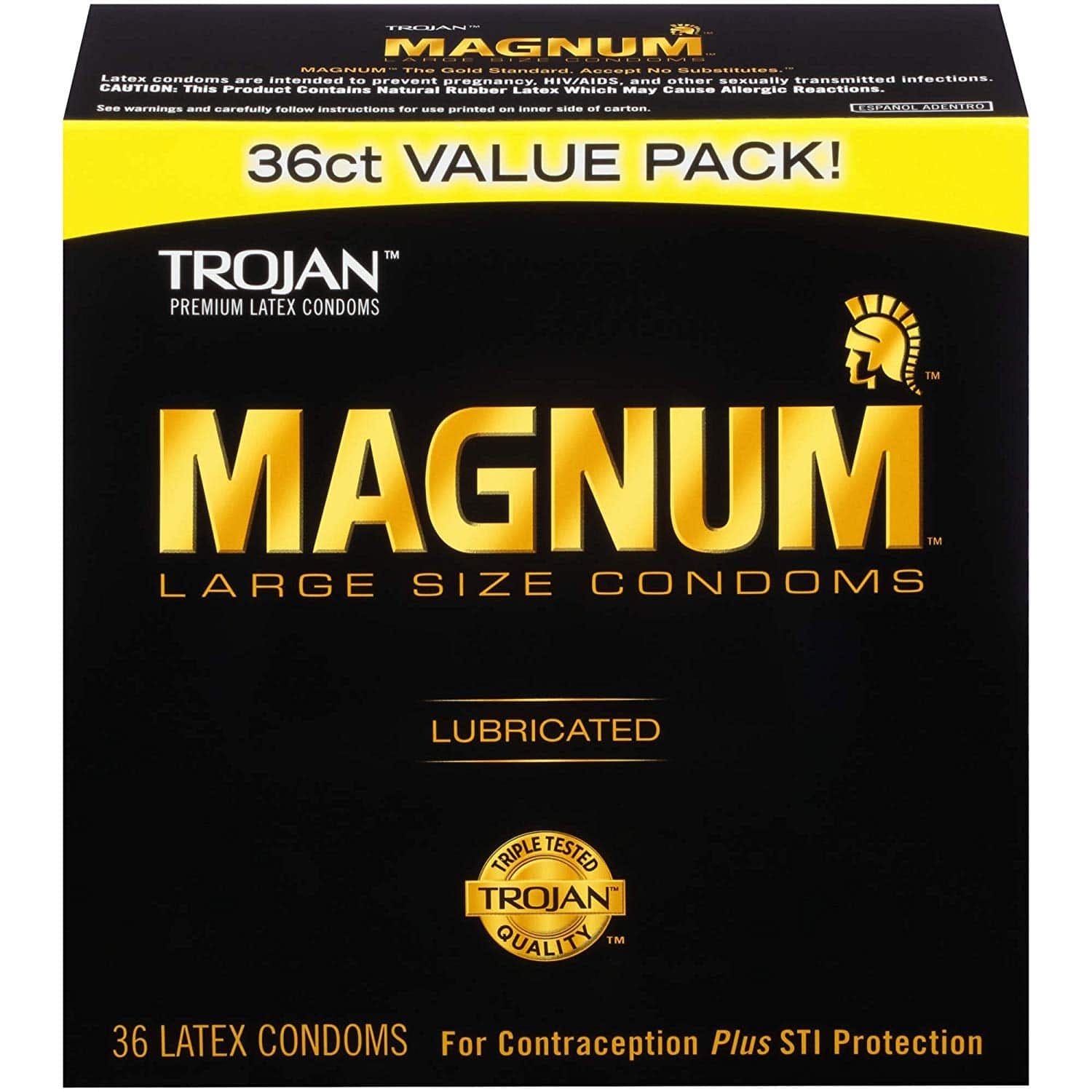 Trojan Magnum Large Size Lubricated Condoms - 36 count - $10.93 shipped w/ Amazon S&S