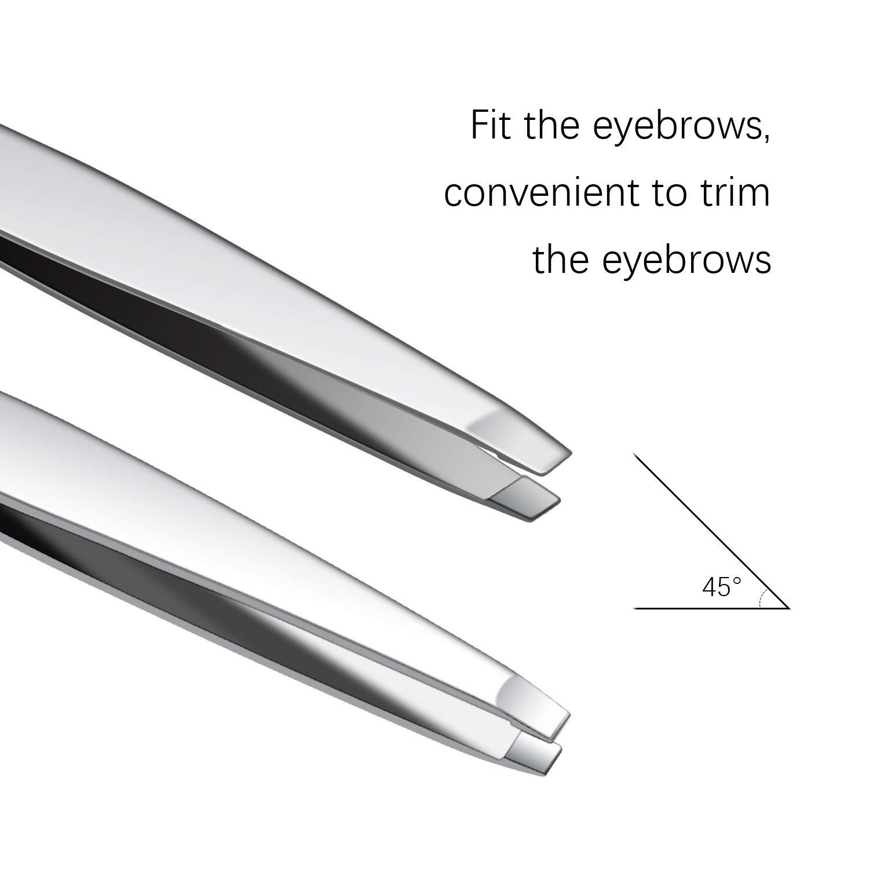 Fixbody Stainless Steel Tweezers Precision Flat Slant Black Or Silver 2 99 Shipped W Amazon Prime Slickdeals Net