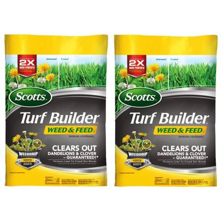 2-Pack: Scotts Turf Builder Weed & Feed (15,000 sq. ft.) - $64 + Free Shipping at Walmart.com